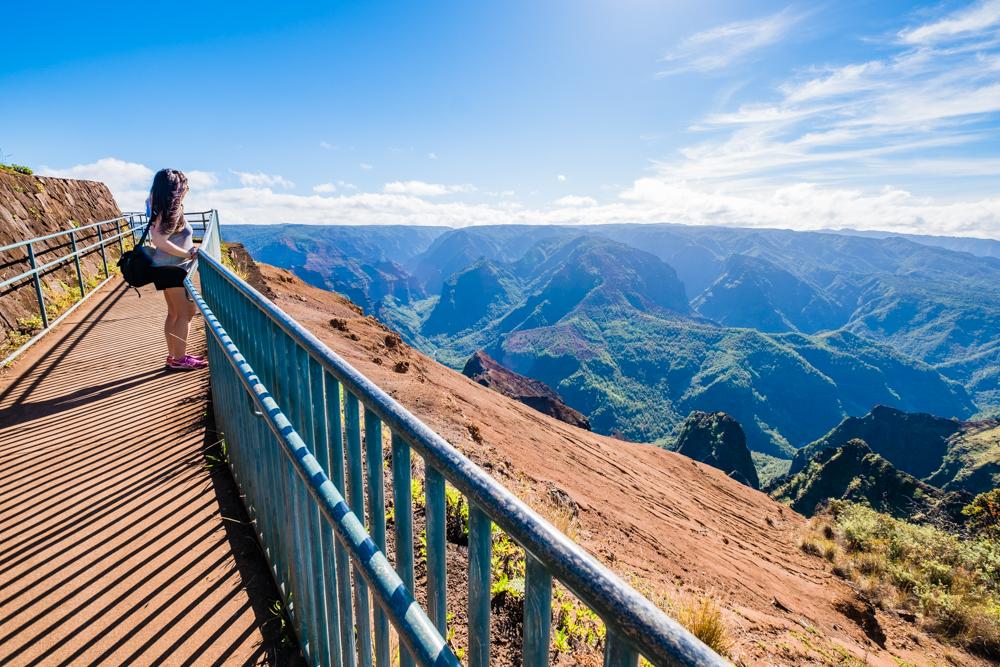 waimea canyon lookout kauai hawaii