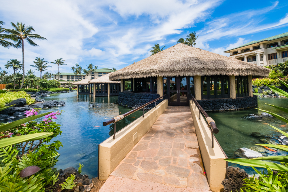 Tidepools is an award-winning restaurant with romantic bungalows and koi ponds