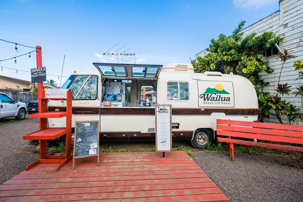 Hawaii is known for it's shave ice and this place does not disappoint. Wailua Shave Ice uses fresh fruit. So, you won't find the overly sweet syrups or artificial flavors here. This place was a bit out of our way, but we managed to visit a couple of times and tried several flavors.