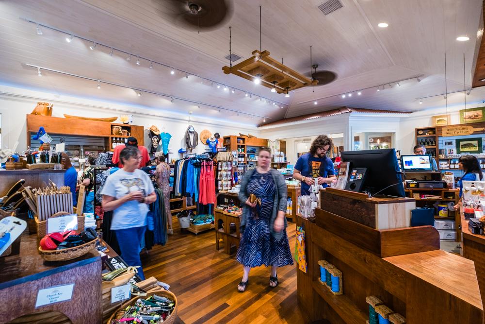 Gift shop at Koloa Rum Co