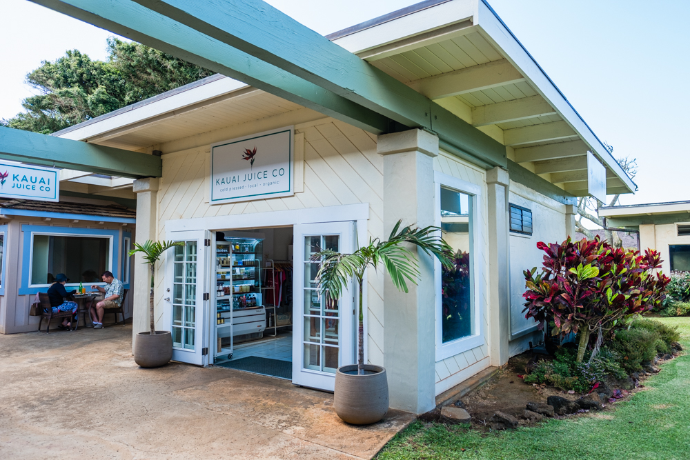 We heard good things about Kauai Juice Co, so decided to start there. They specialize in fresh, cold-pressed juices in glass bottles. You can either keep the bottle or bring it back next time for credit on your next purchase.