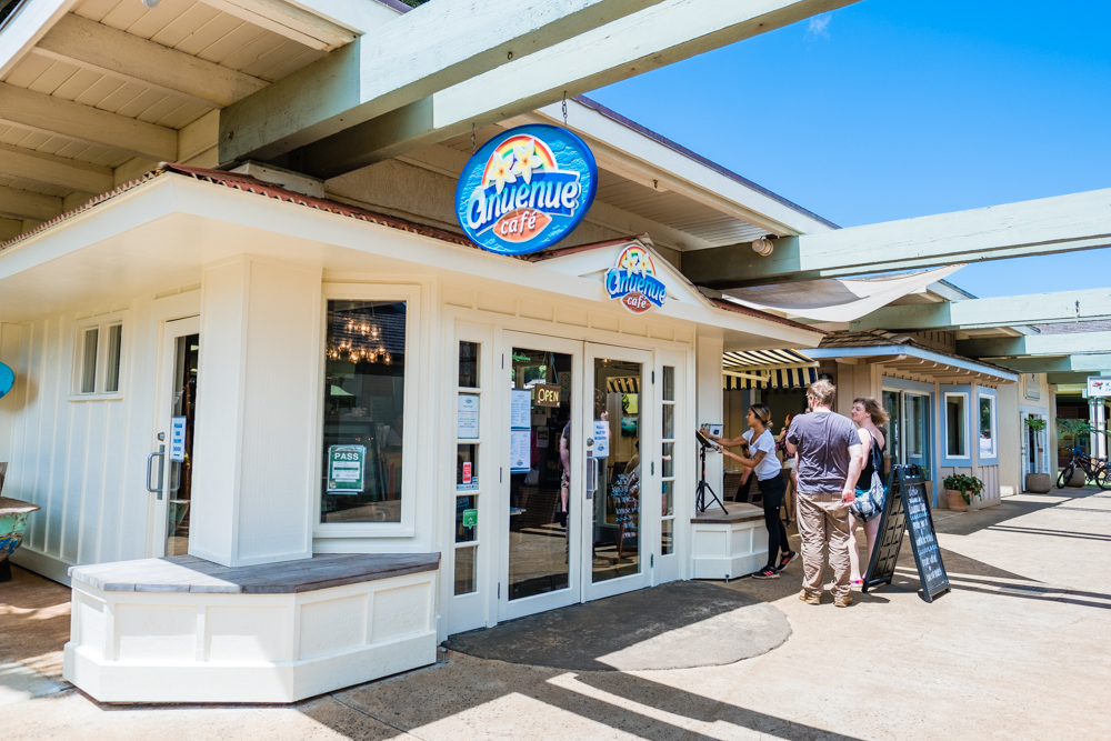 We happened to stumble upon Anuenue Cafe when we walked out of Kauai Juice Co. There was a long line, which is always a good sign. So, we put our names down and waited for a table.
