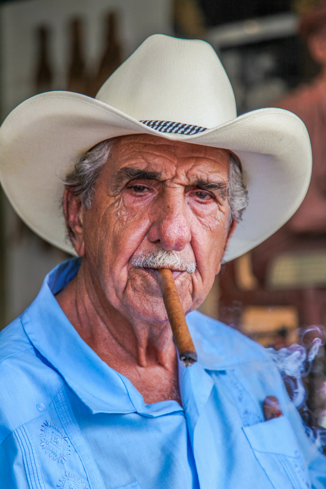 Pedro Bello, Cuban American; has worked for more than 40 years at Calle 8's Cuba Tobacco Cigar Company.