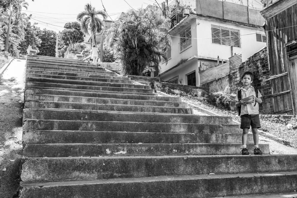 Escalinata de Calle 4 entre Gasómetro e Indio
