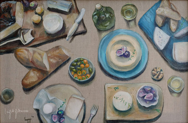 KITCHEN THEME STILL LIFE  50 x 70cm  Oil on linen / 2014