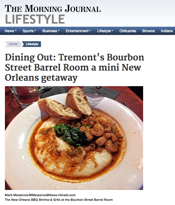 MORNING JOURNAL Mark Meszoros  - Dining Out in Tremont