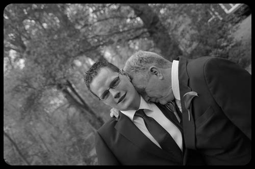 Marwell Hotel black and white dad and groom Wedding photo cardiff best
