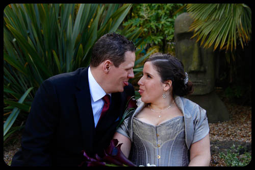 Marwell Hotel Couple sticking tongues out Wedding photo cardiff best