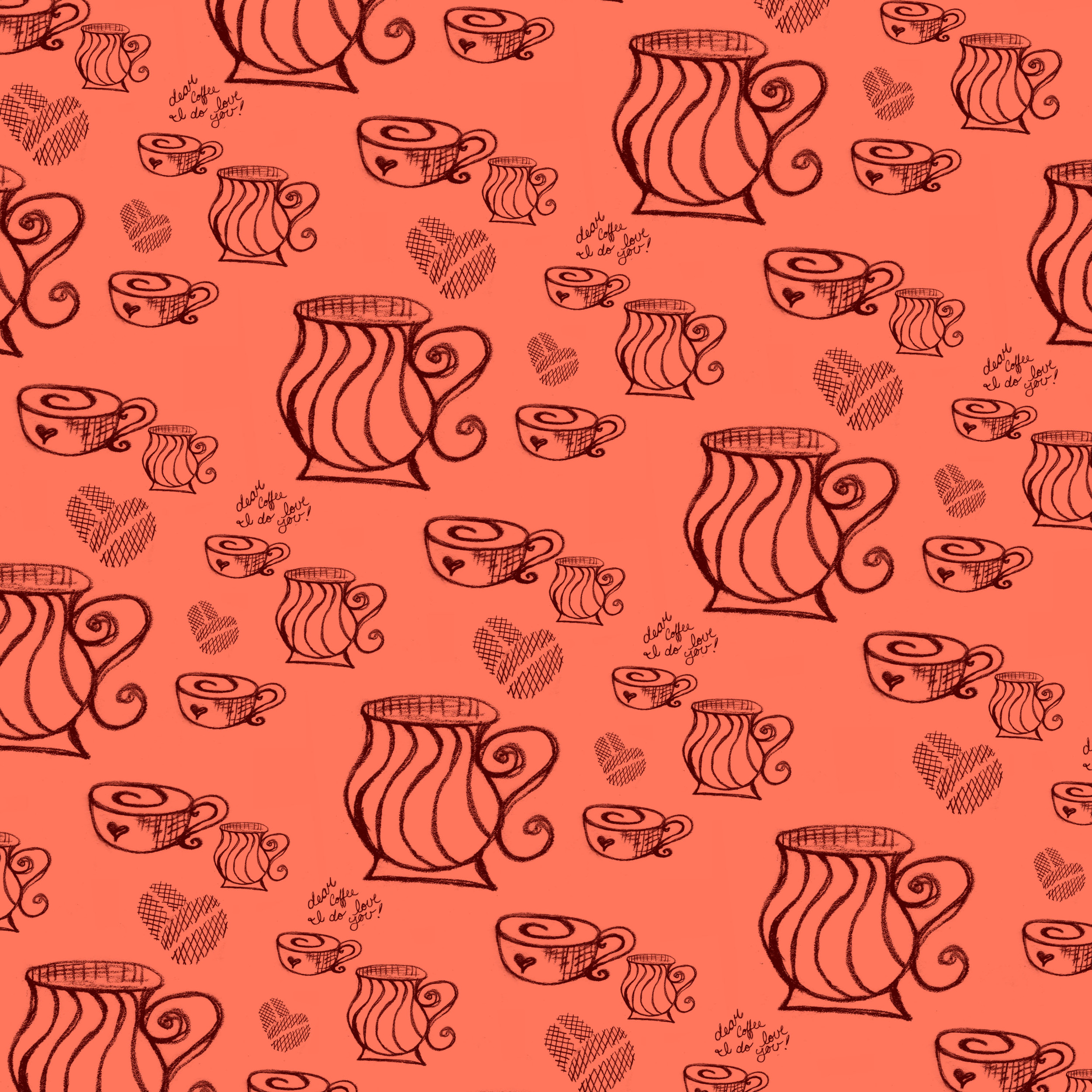 A fun pattern created for a blog post, you can see the post over at   D  ear Coffee, I Love You.