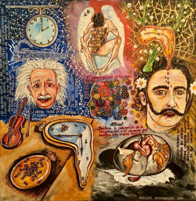 Einstein and Dali Sublimation, by Svetlana Sevostyanchik