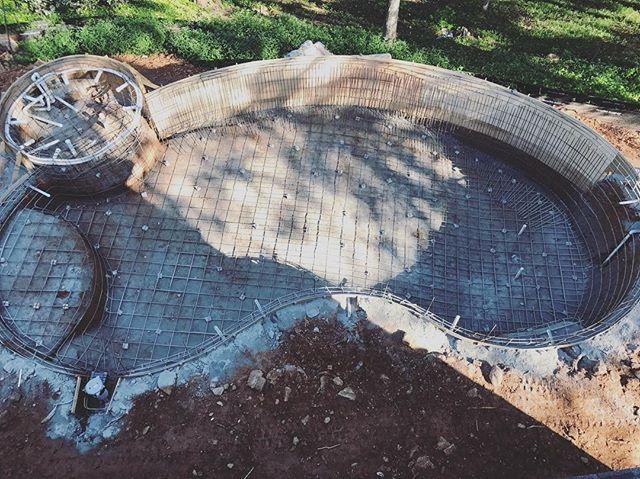 Pool Progress pt. 2  #generalcontractor #homebuilder #customhome #pool #underconstruction #rebar #georgia #marietta #bridgebuilders30 #backyard