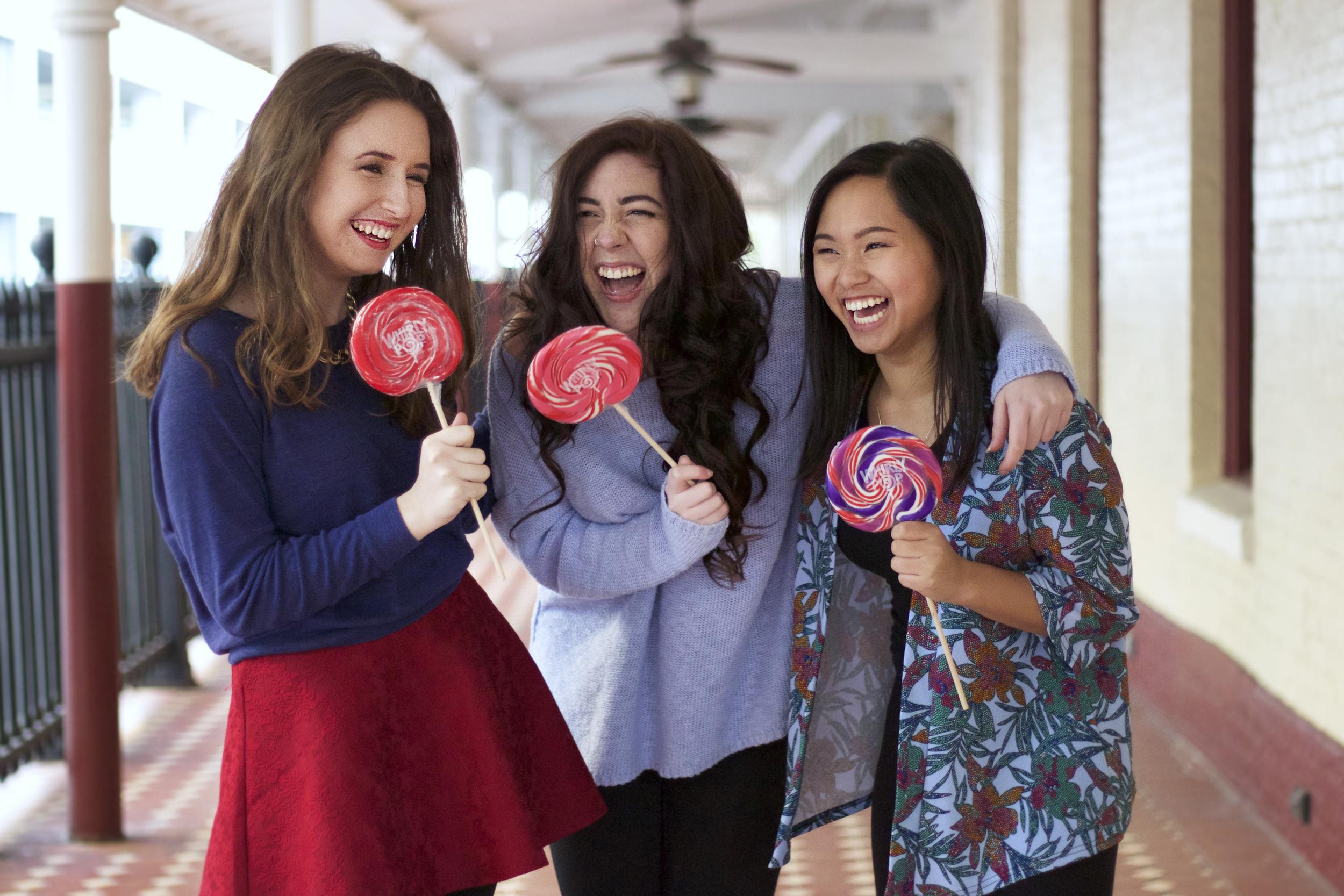 Emily Sachs, Hannah Gogan, and Becca Hildalgo–January 2015