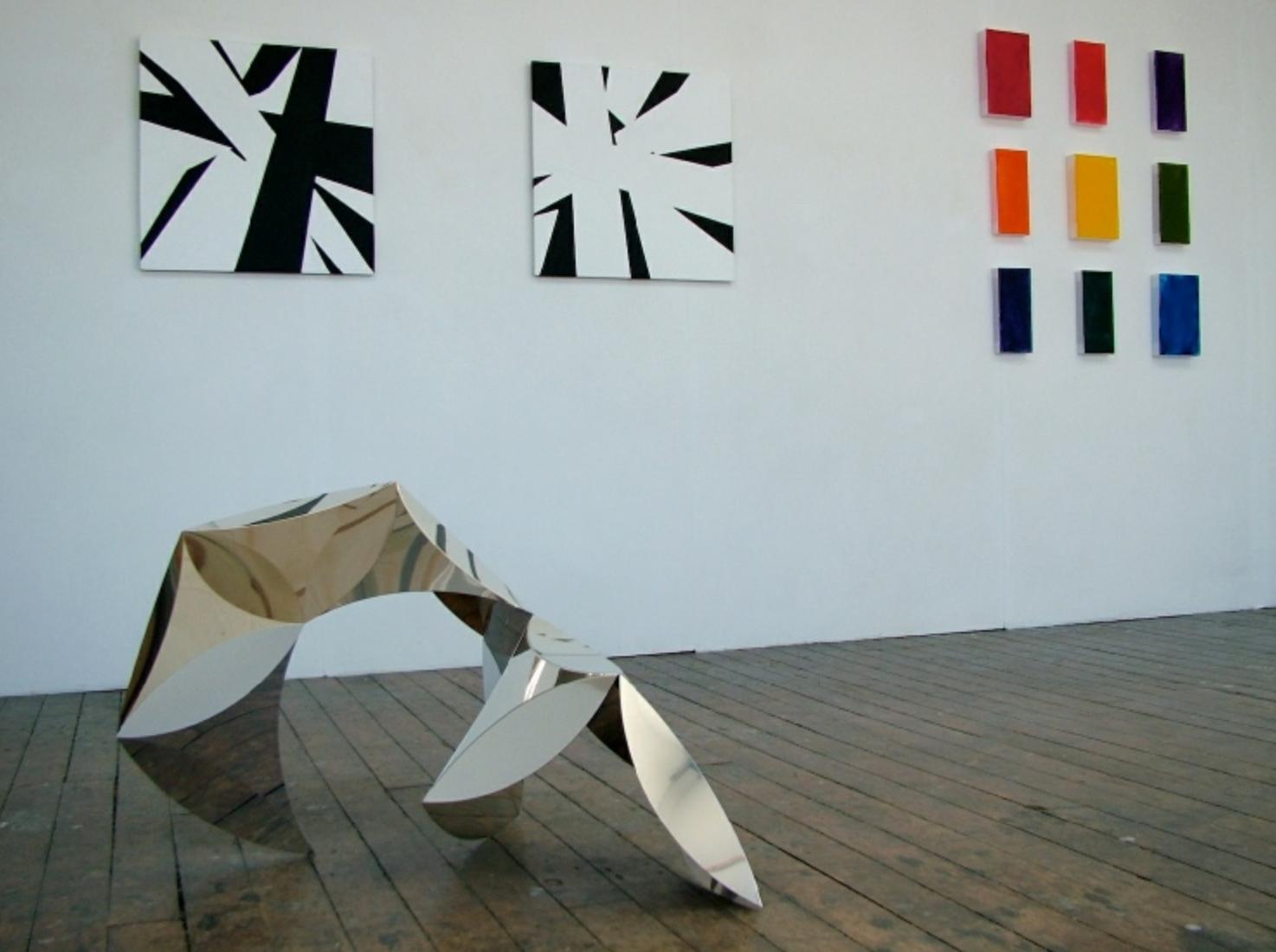 Installation shot, Extended Process 1, Deb Covell, Debra Ramsay, Brigitte Parusel. Photo by Brigitte Parusel