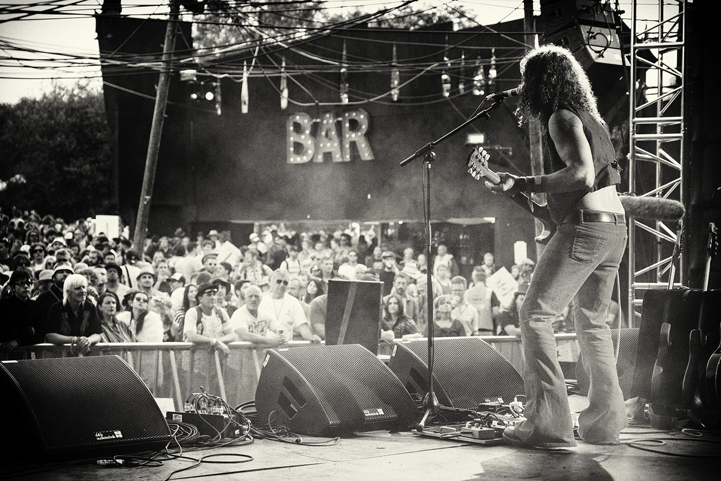 John Fairhurst on the Hell Stage at Glastonbury 2015