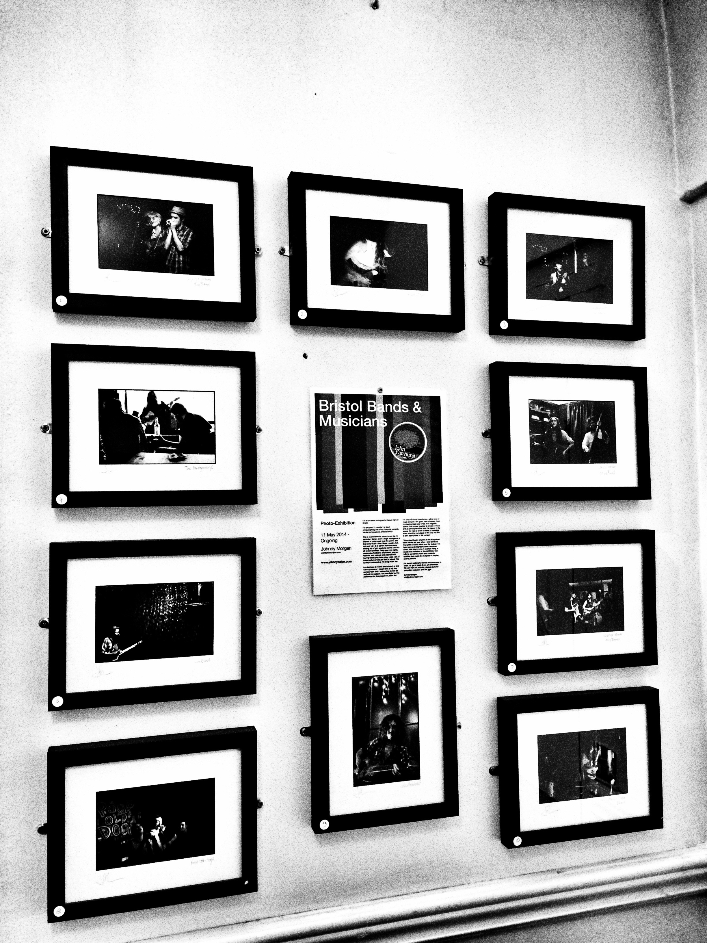 One of my recent photo exhibitions on the Bristol music scene
