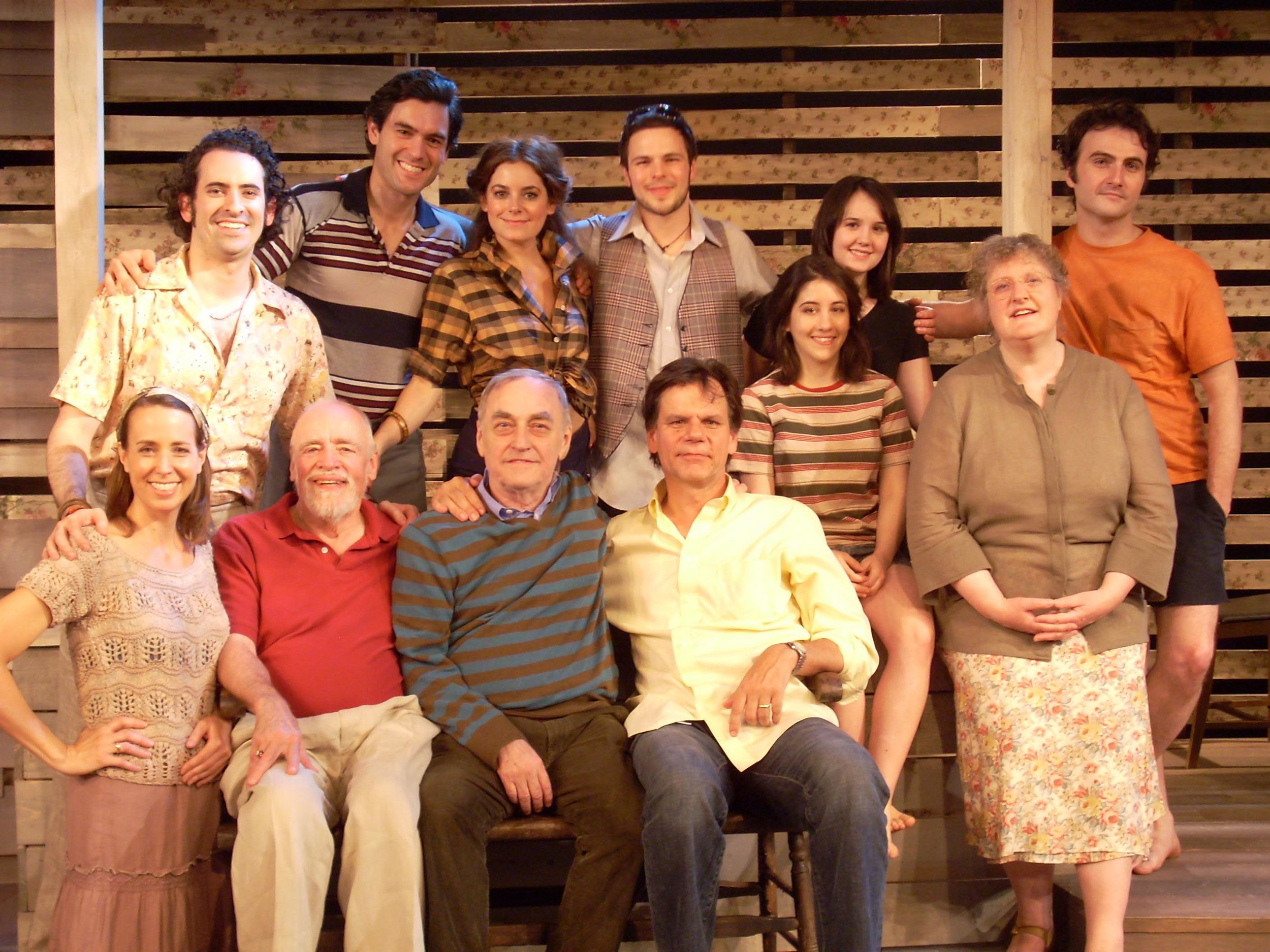 "Peter with Lanford Wilson and the cast of ""Fifth of July"""