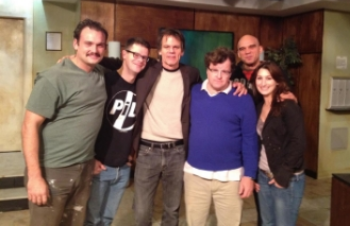 Peter w playwright Kenneth Lonergan and cast