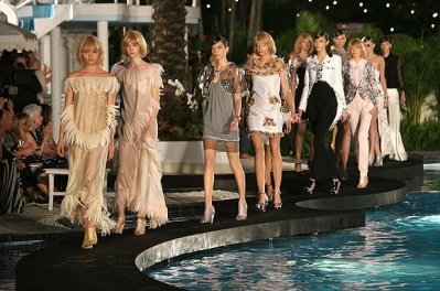 Raleigh Poolside Chanel Runway Show