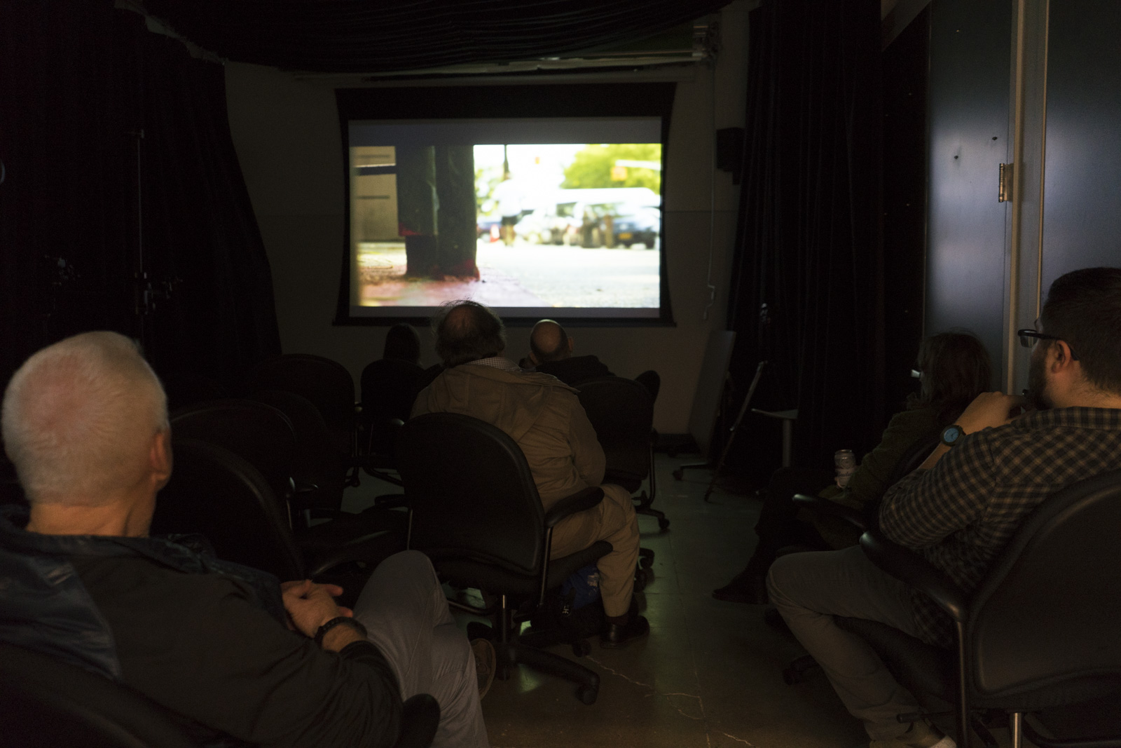 A glimpse at the film screening.