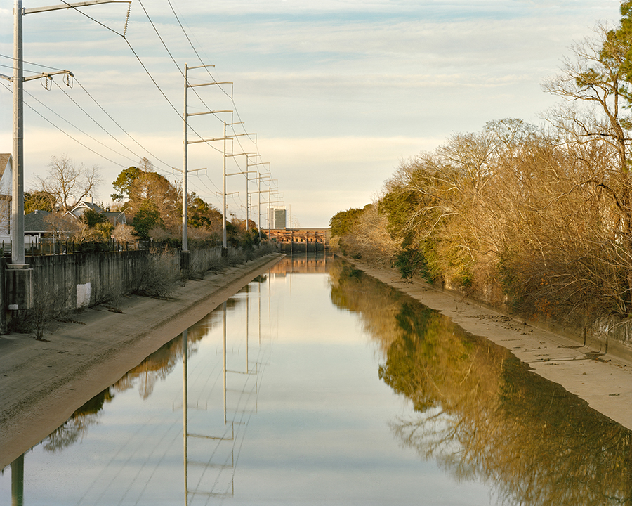 17th Street Canal, Border of Jefferson and Orleans Parishes,  2018 ,  Digital Print, 40x50 inches  ©Alison Gootee