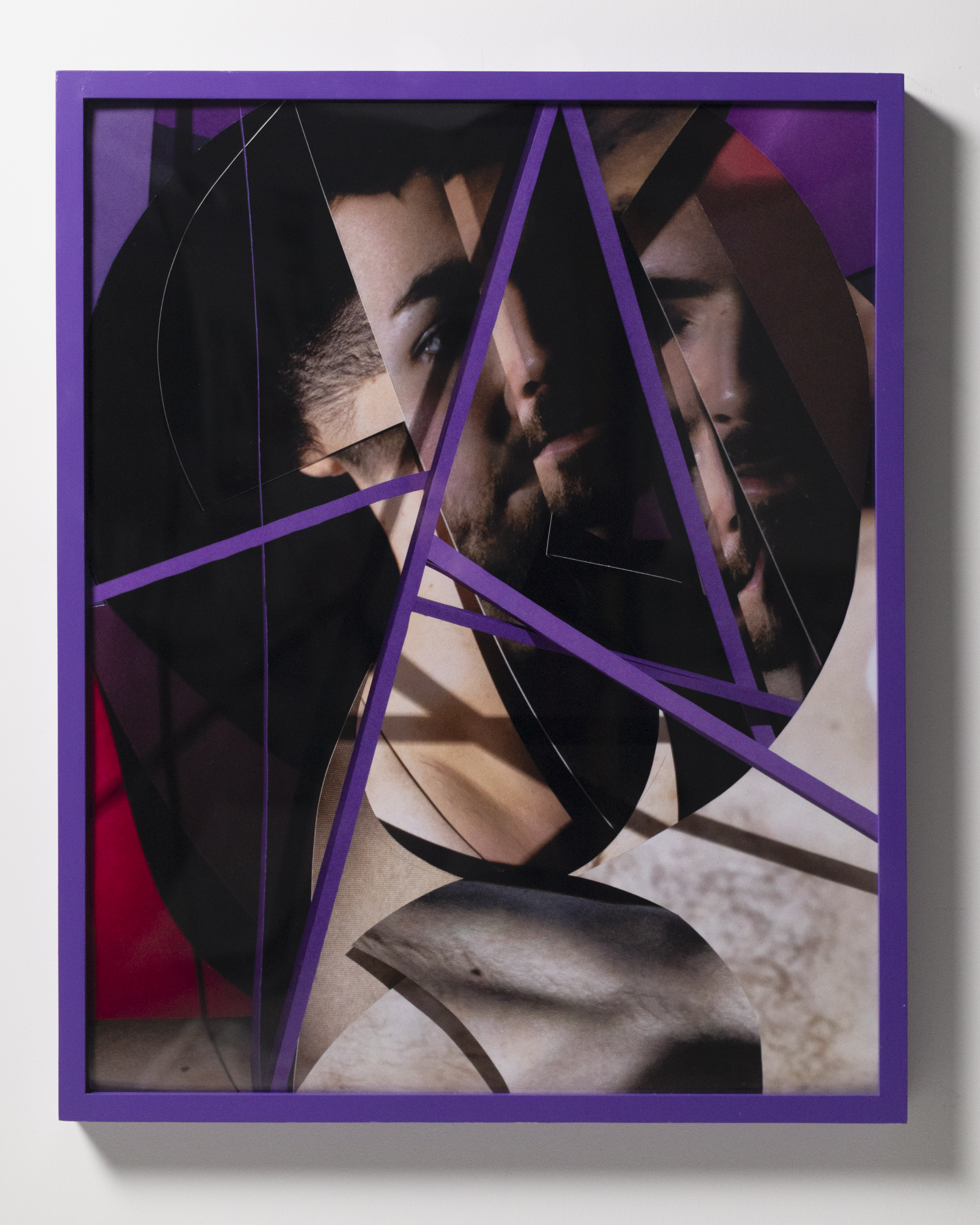 Stained   2019  Inkjet print and painted wood frame  25.5 x 31.5 inches