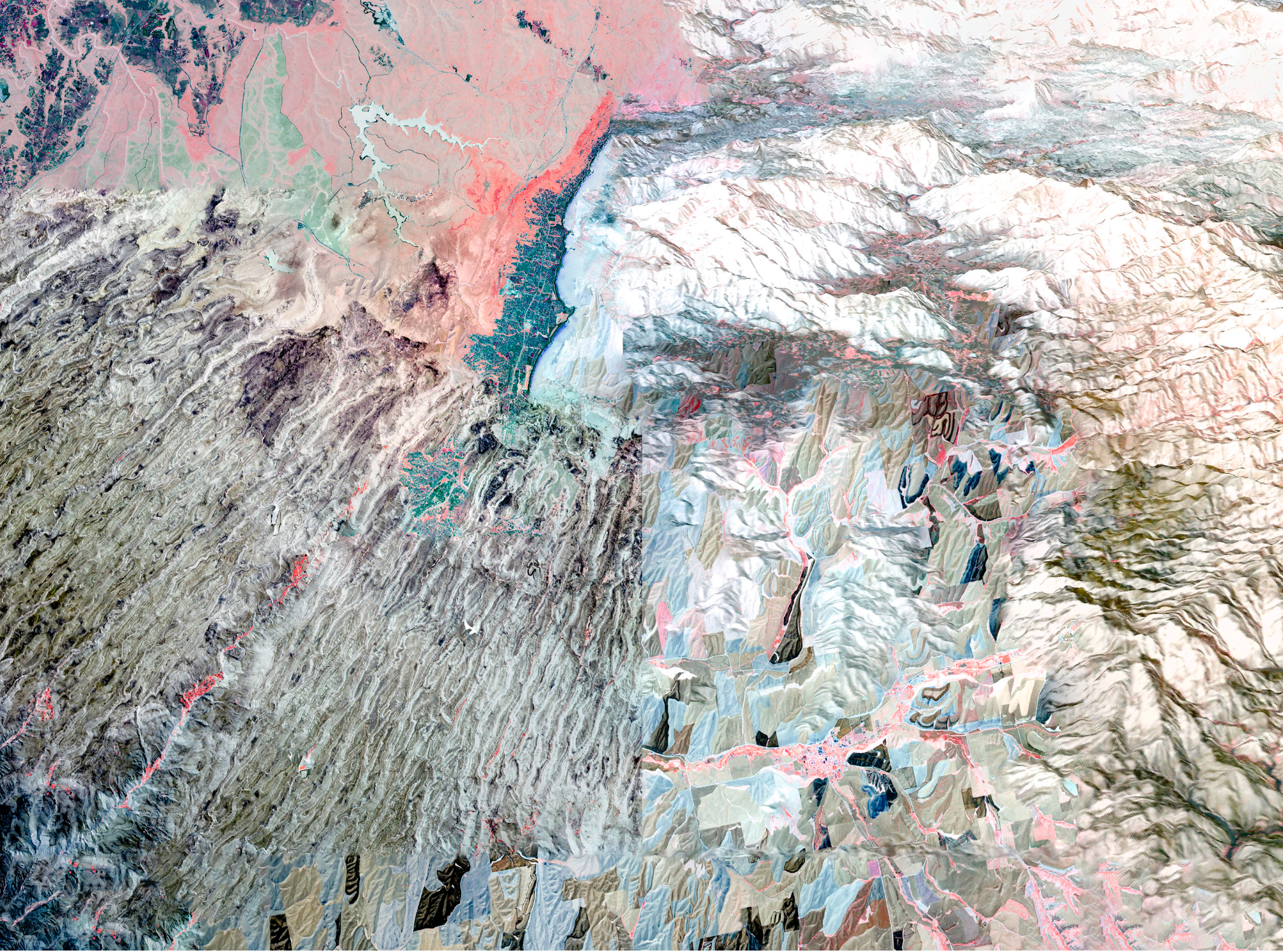 NASA Stack No. 8 (Palouse, Australian Wildfire, Khyber Pass and Western Slope of Andes),  Julianne Nash