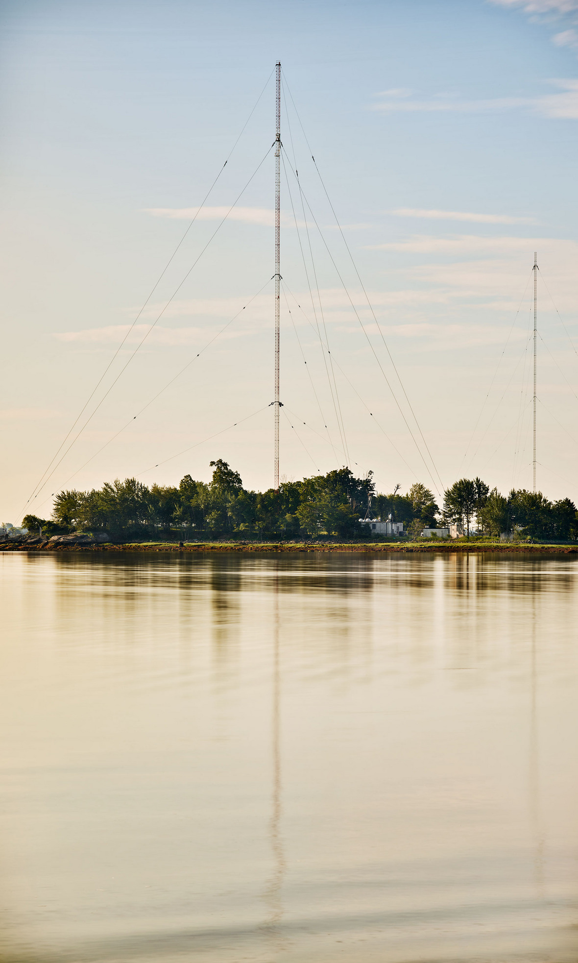 "Jeff Chien-Hsing Liao,  Long Island Sound, High Island    ""The radio tower pictured here has been known to transmit as far as Chicago, California, and even Japan."""