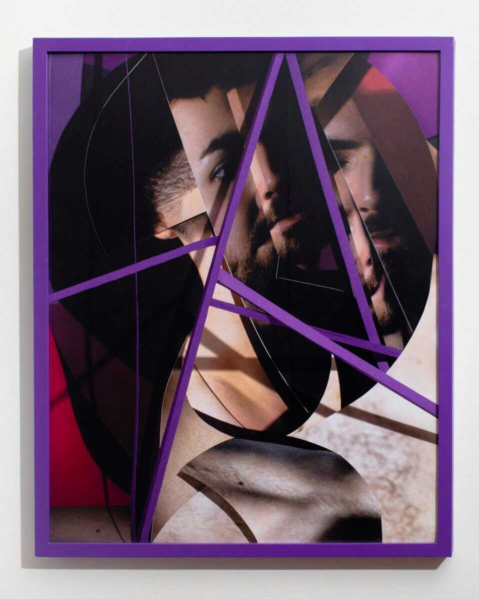 Stained , 2019  Inkjet print in painted wood frame, 26 x 36 inches