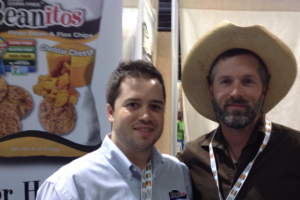 Hanging out with Mike Larocca, head of marketing for Beanitos.