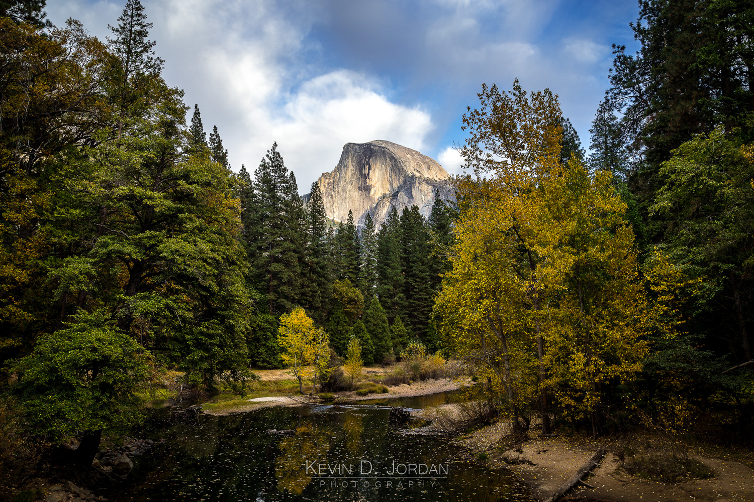 Half Dome over the Merced River in Yosemite National Park, California (© Kevin D. Jordan Photography)