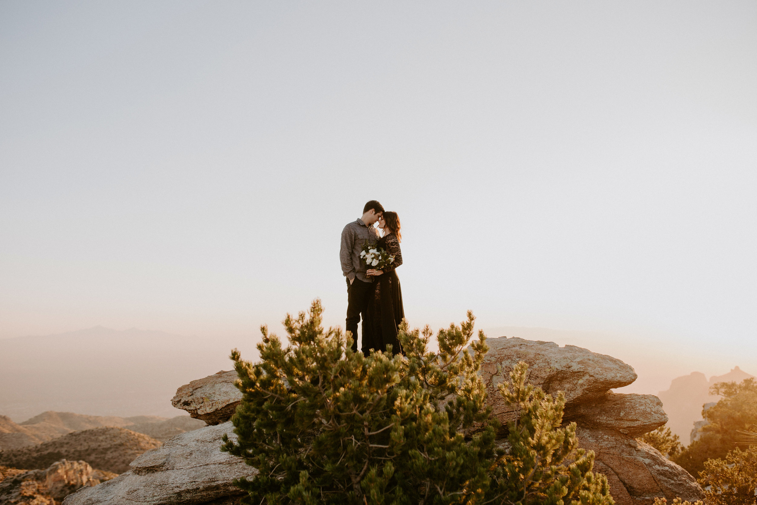 Couple's anniversary session at Mount Lemmon in Tucson Arizona