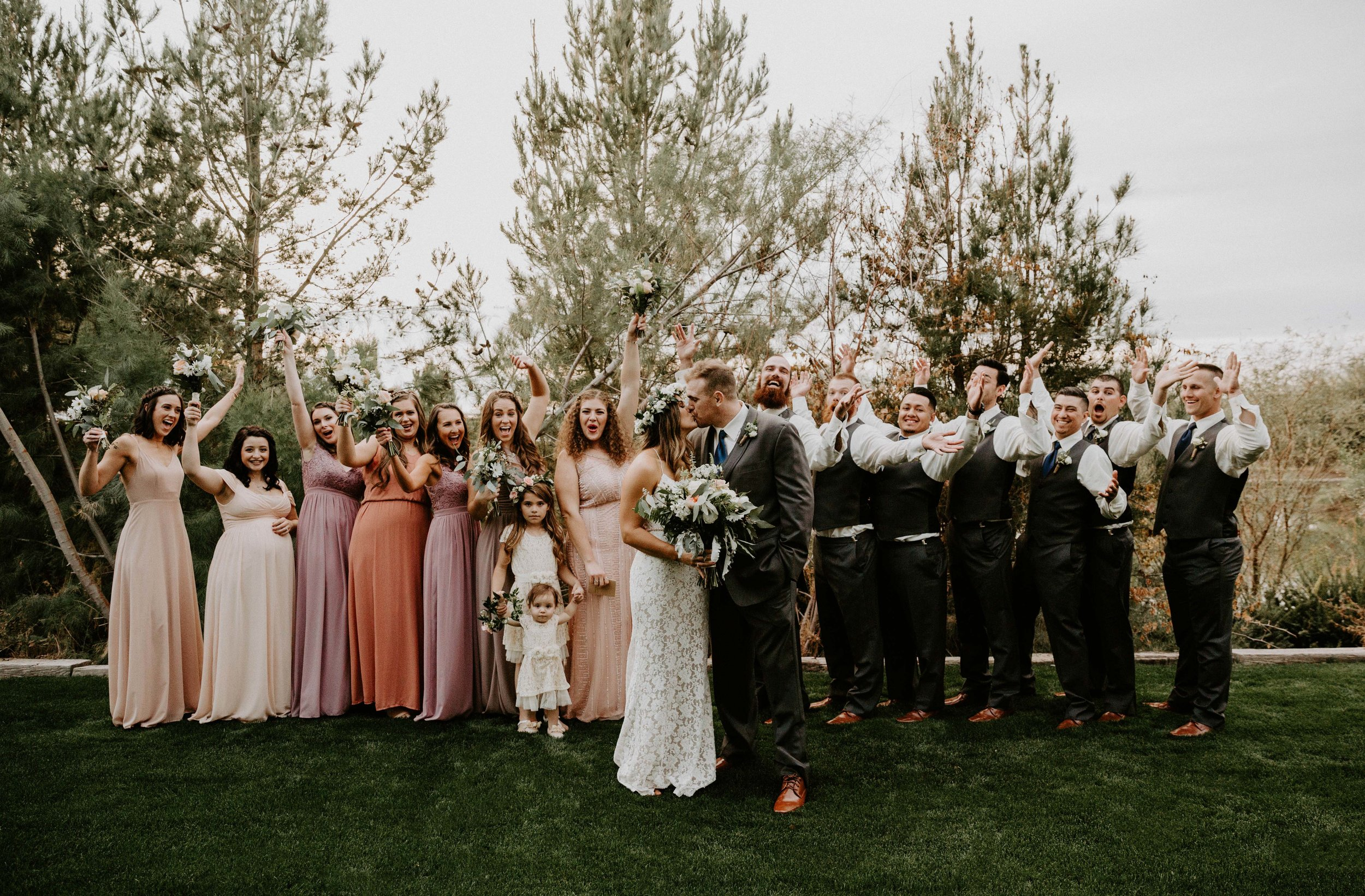 Outside the reception space at Windmill Winery wedding venue in Arizona