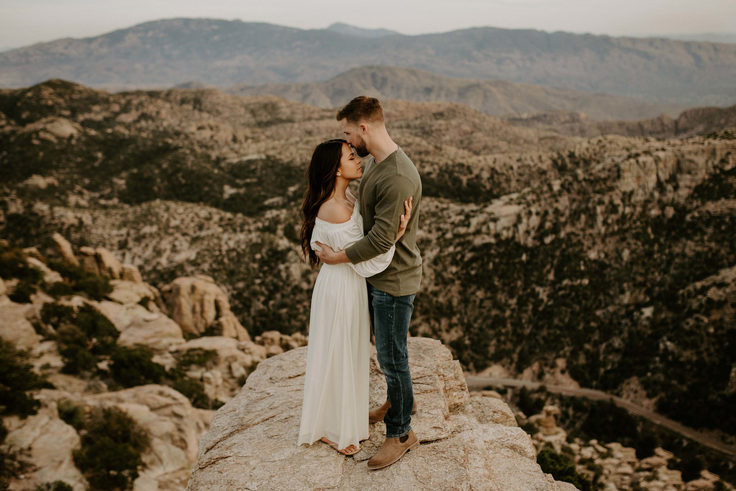 Engagement Session at Mount Lemmon in Tucson Arizona at Windy Vista Point