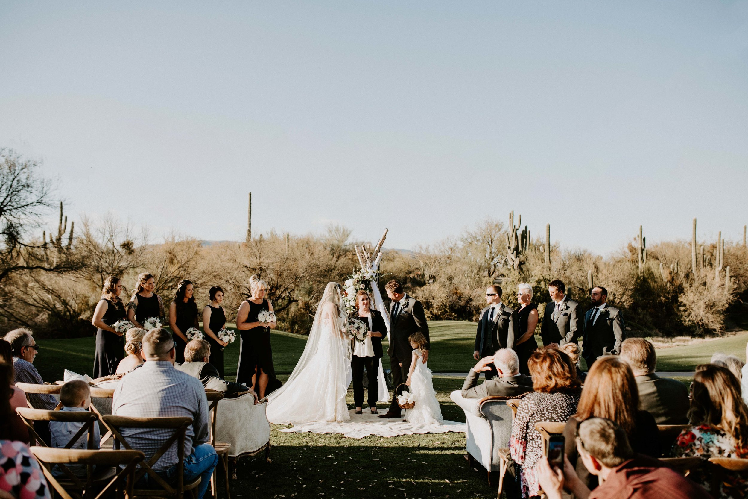 Wedding ceremony space at Tonto Bar and Grill venue in Arizona