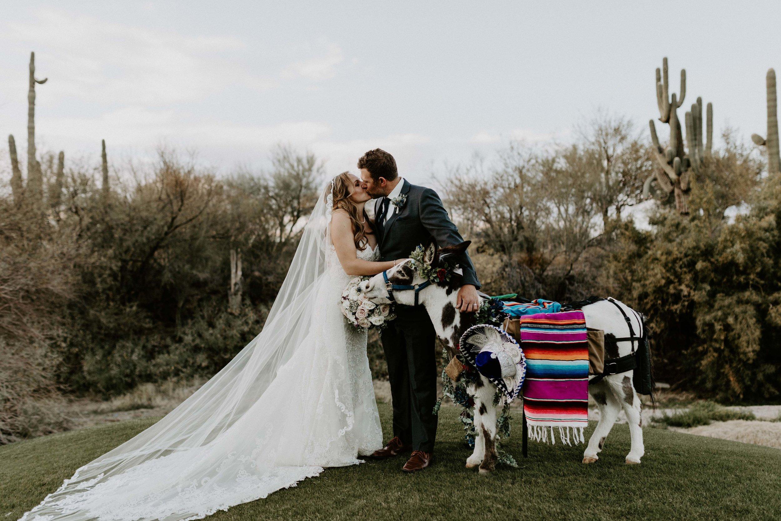 Bride and groom photos at Tonto Bar and Grill wedding venue in Arizona