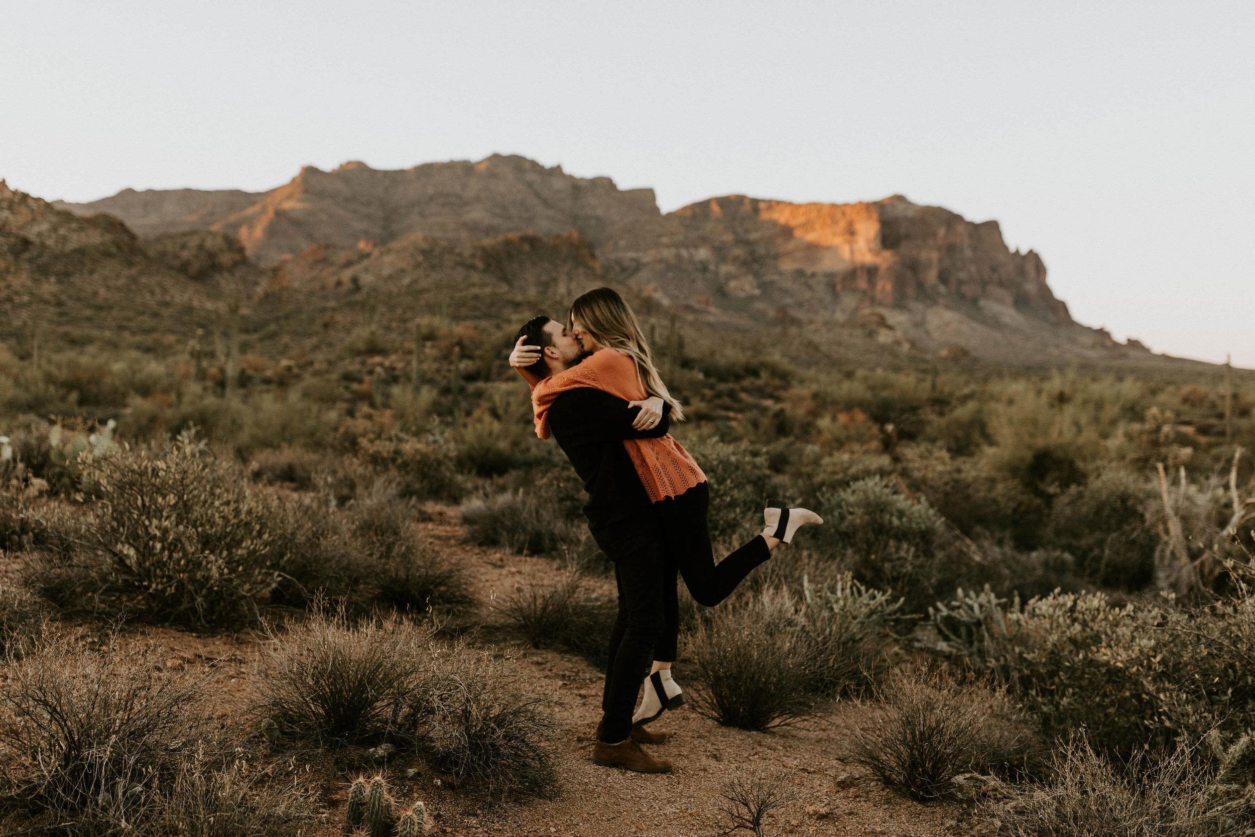 Superstition Mountains in Arizona Desert