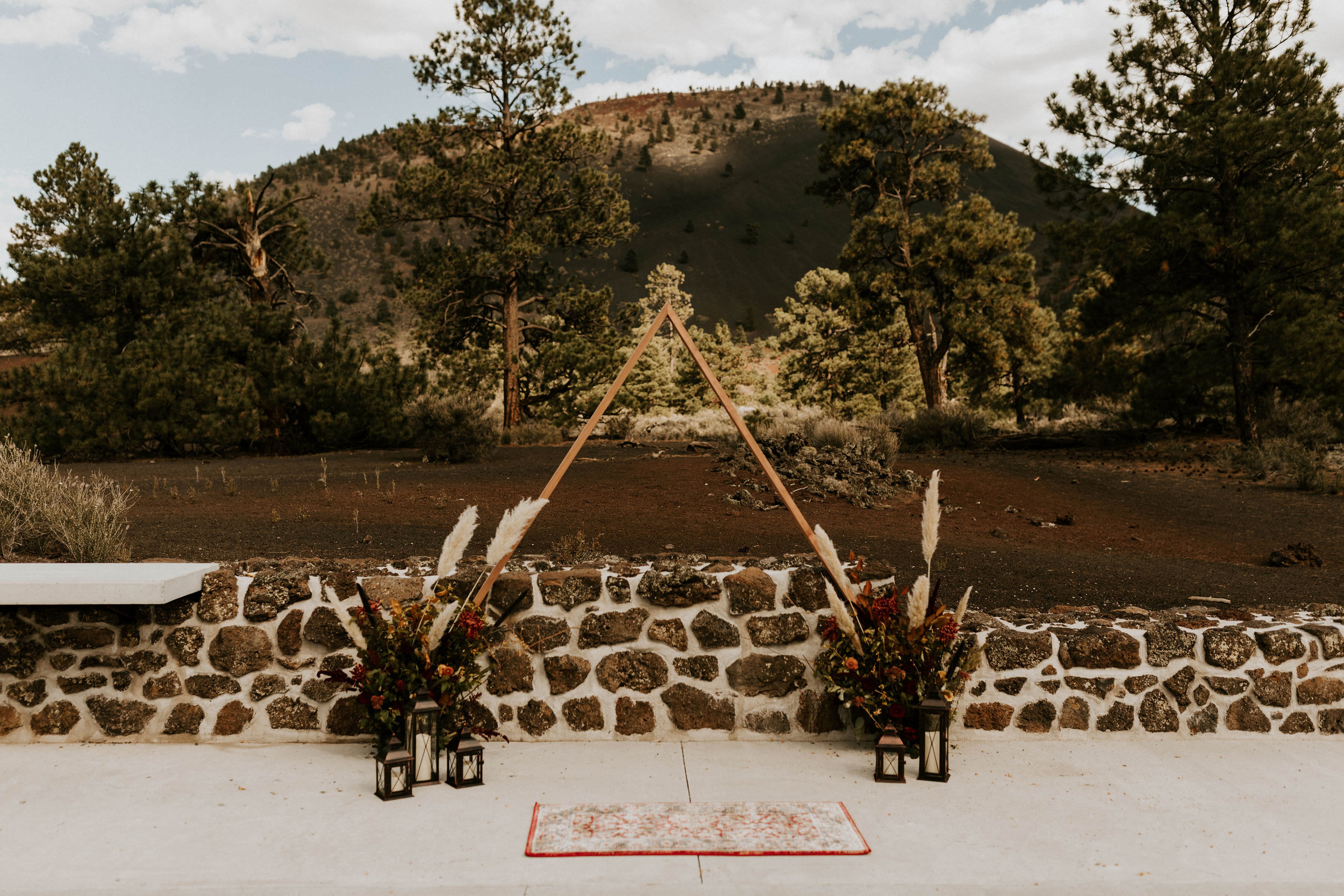 Sunset Crater Volcano Ceremony Space in Flagstaff Arizona