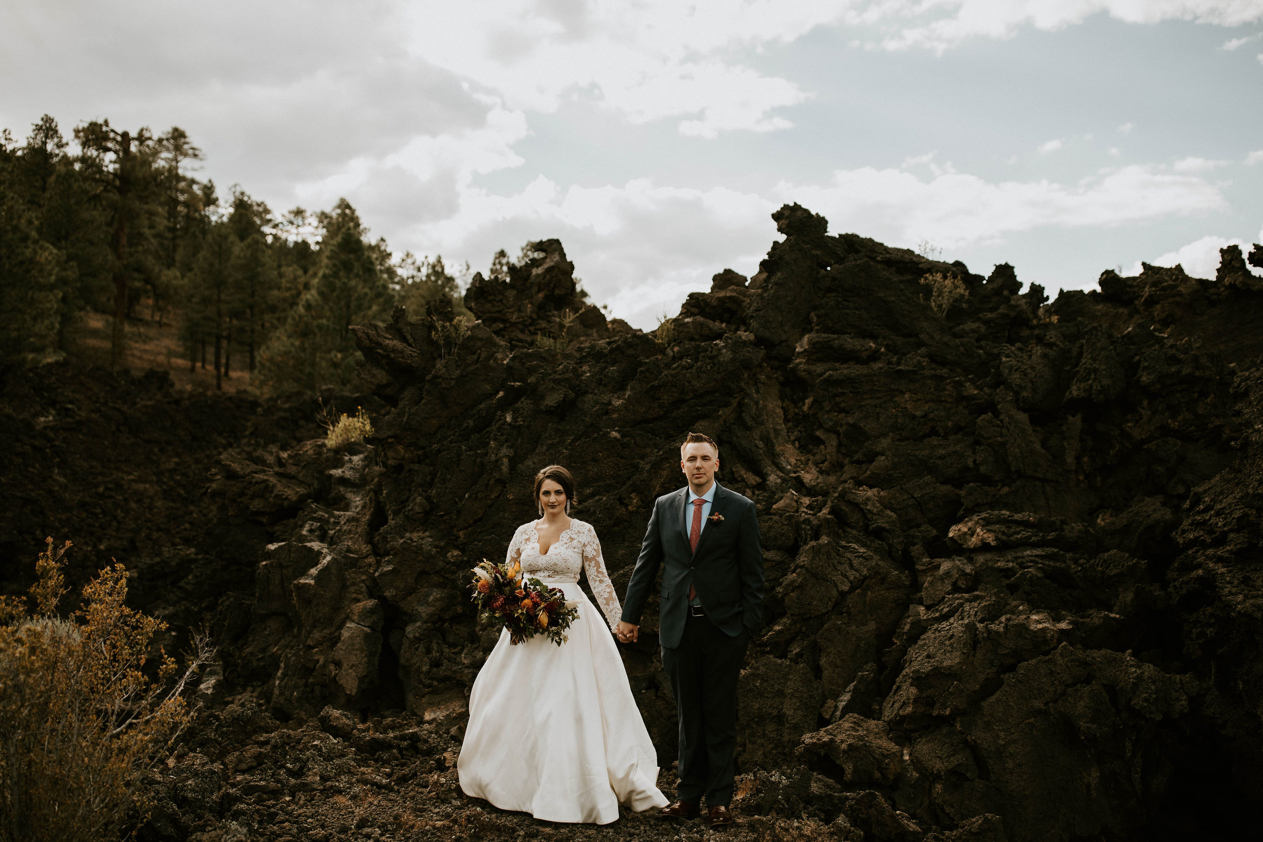Wedding at Sunset Crater Volcano in Flagstaff Arizona