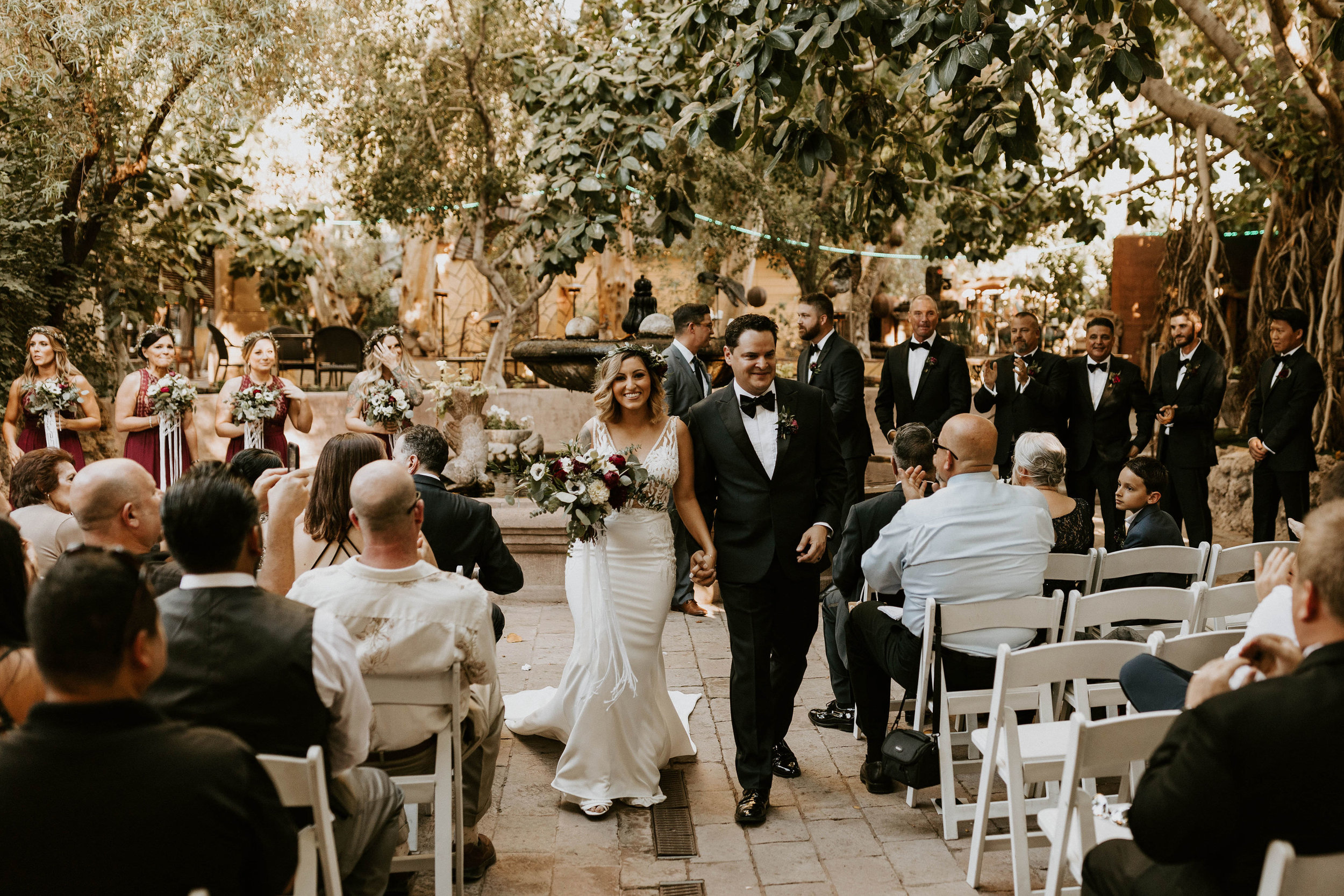 A wedding recessional at Boojum Tree