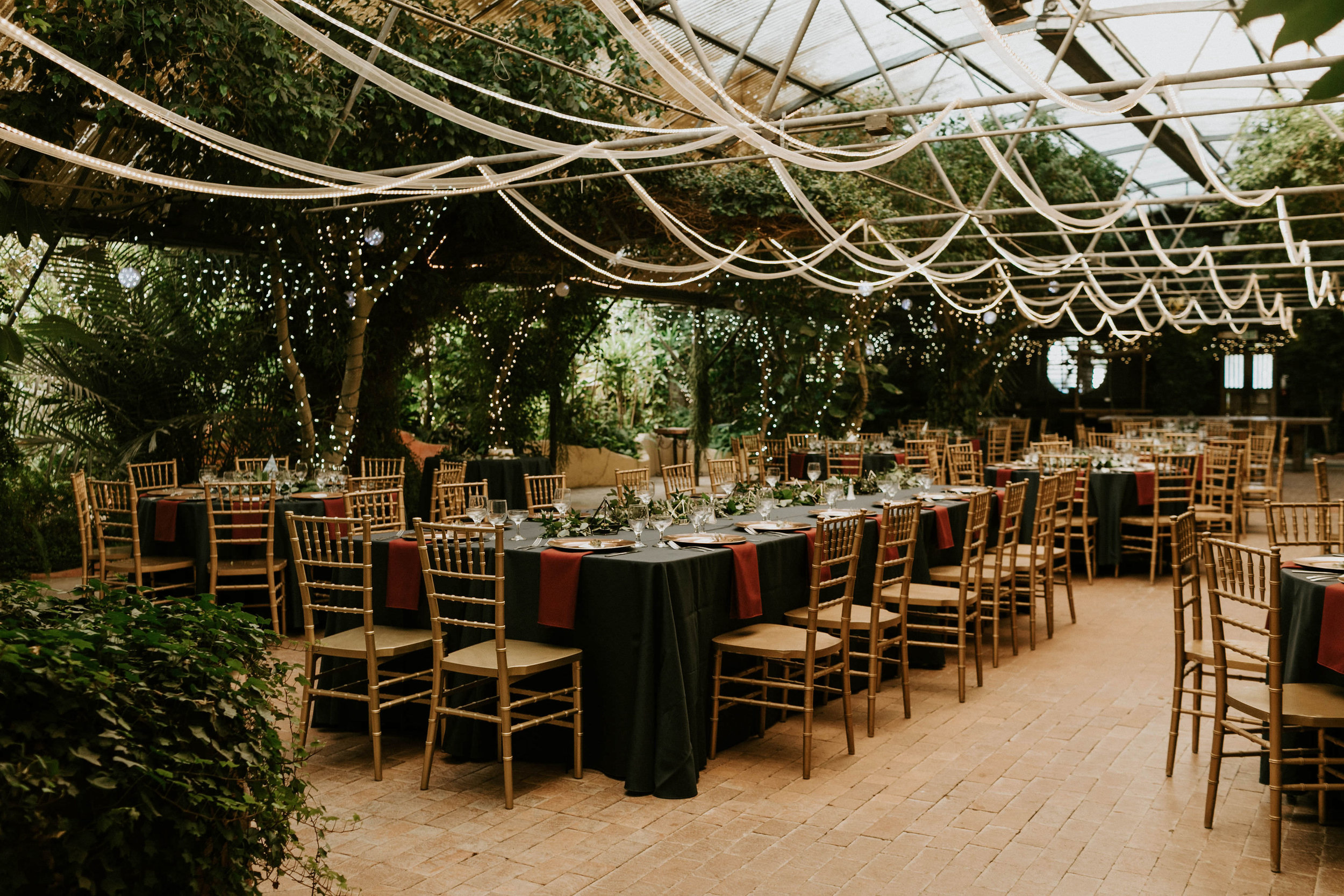 The wedding reception space at Boojum Space