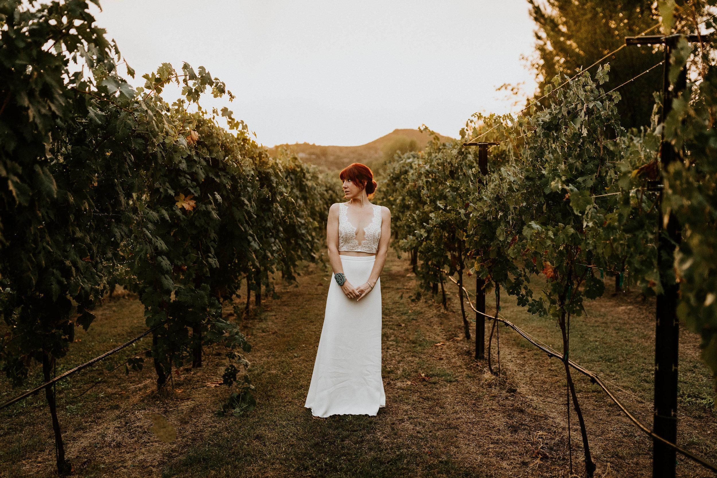 Bride in Vineyard in Sedona Arizona