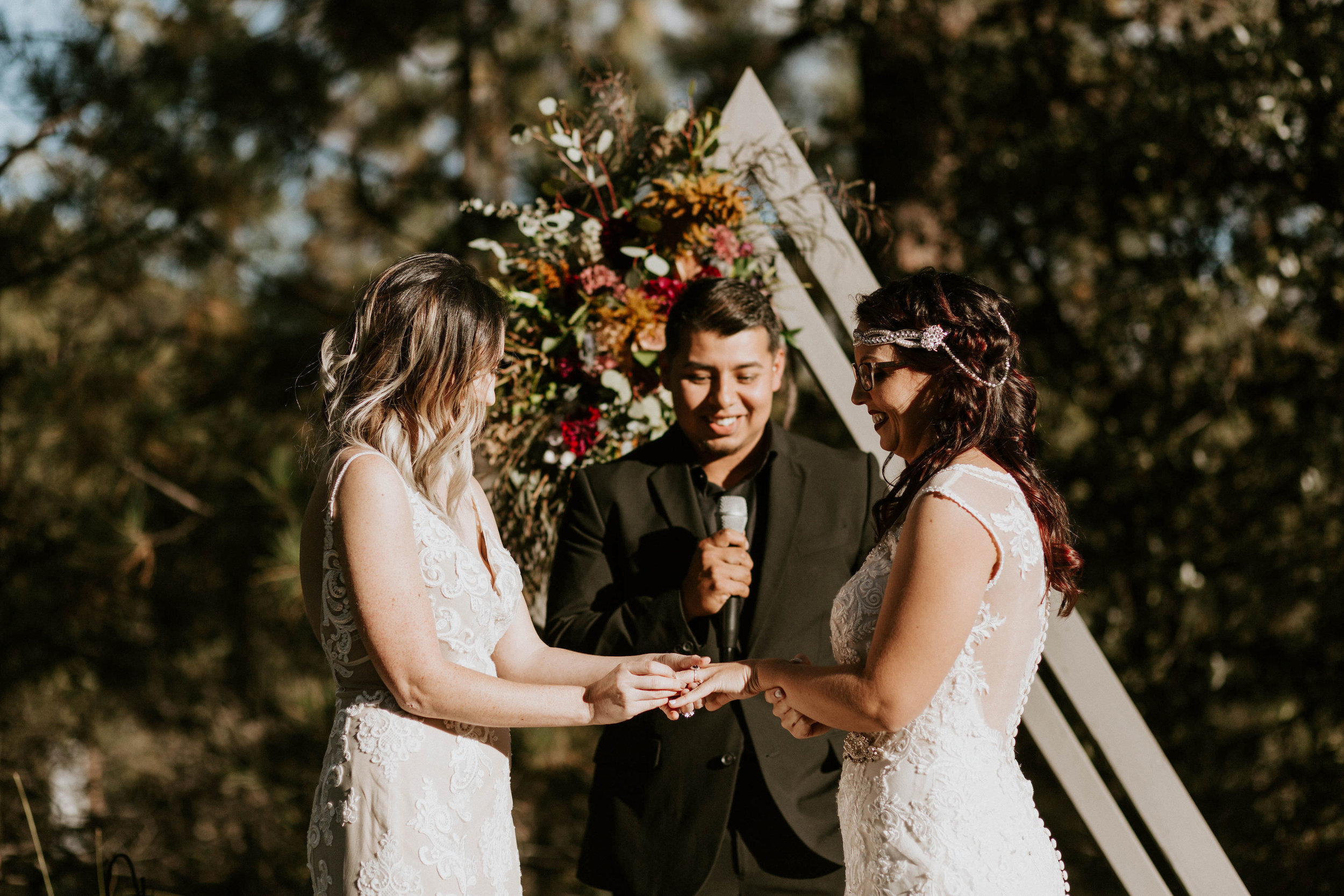 Ceremony Space at A Frame Cabin in Strawberry Hill, Arizona