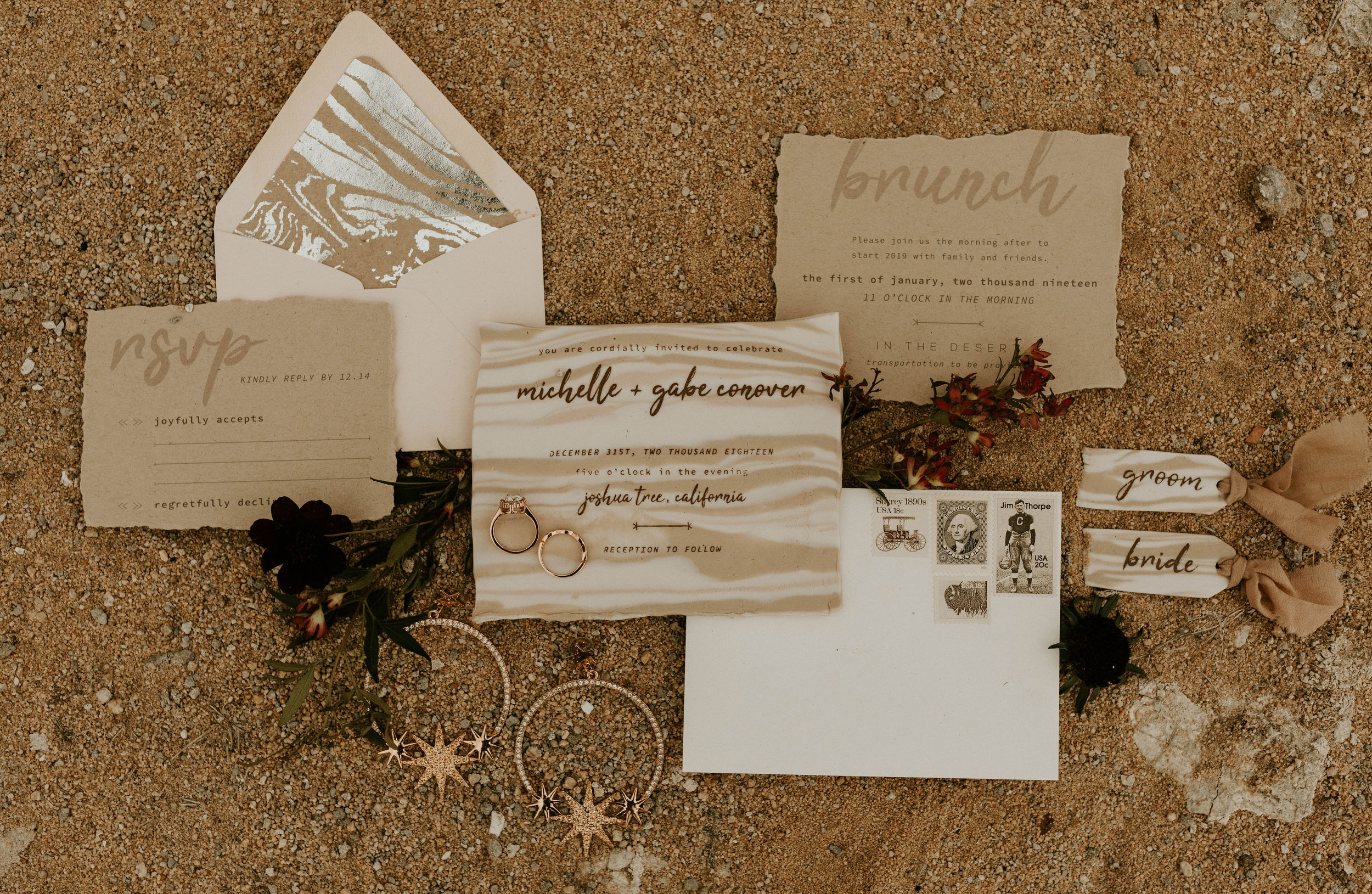 Clay Invitation Suite in Joshua Tree