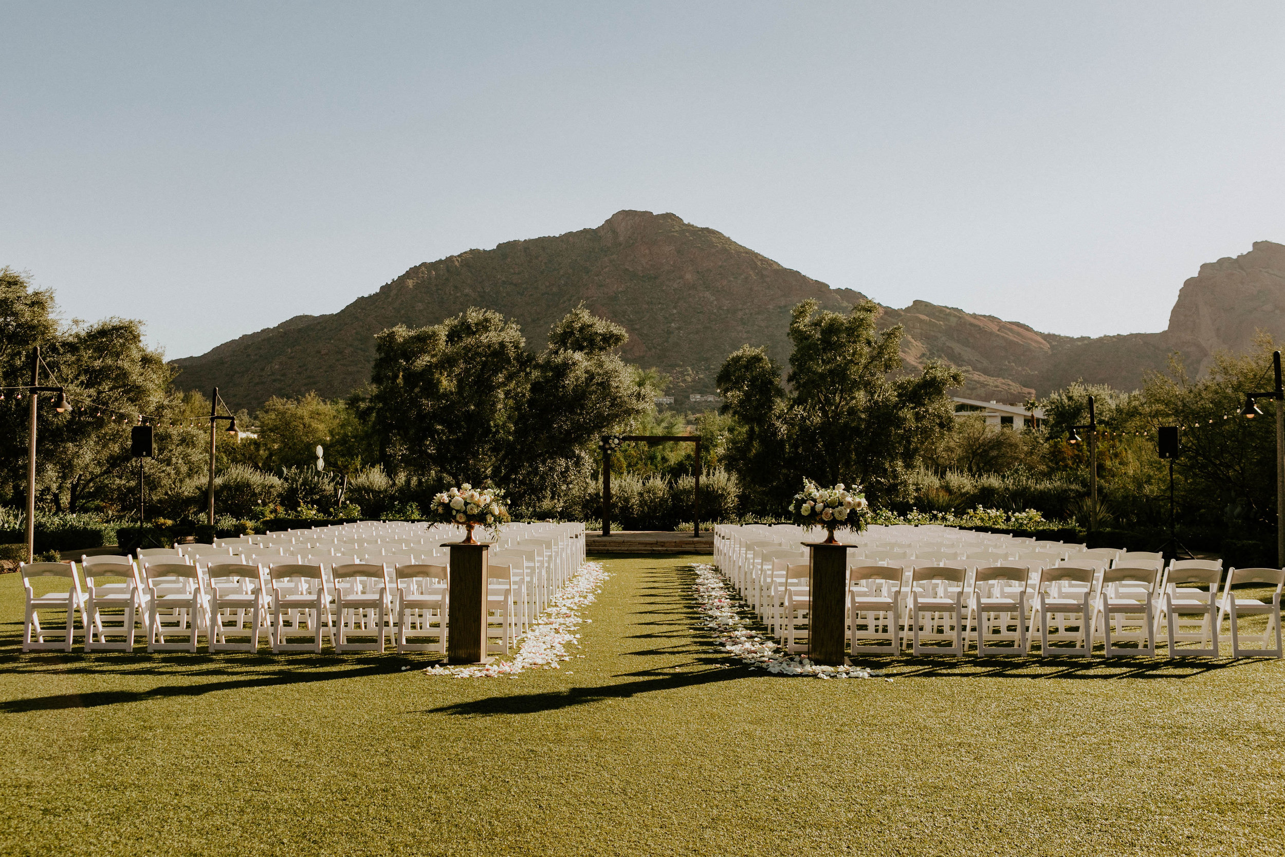 Ceremony location at El Chorro Wedding space