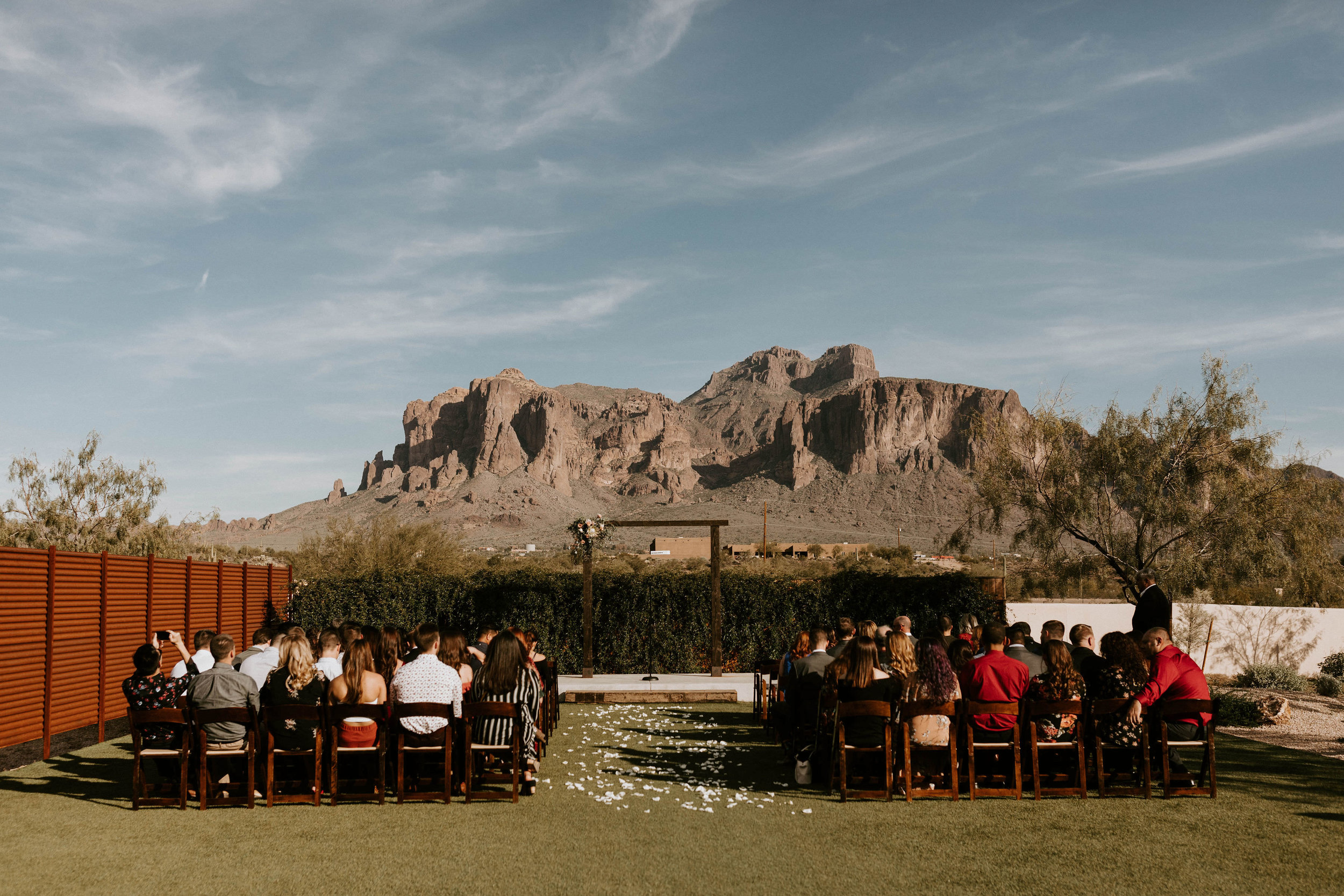 Ceremony space at Paseo wedding venue in Phoenix