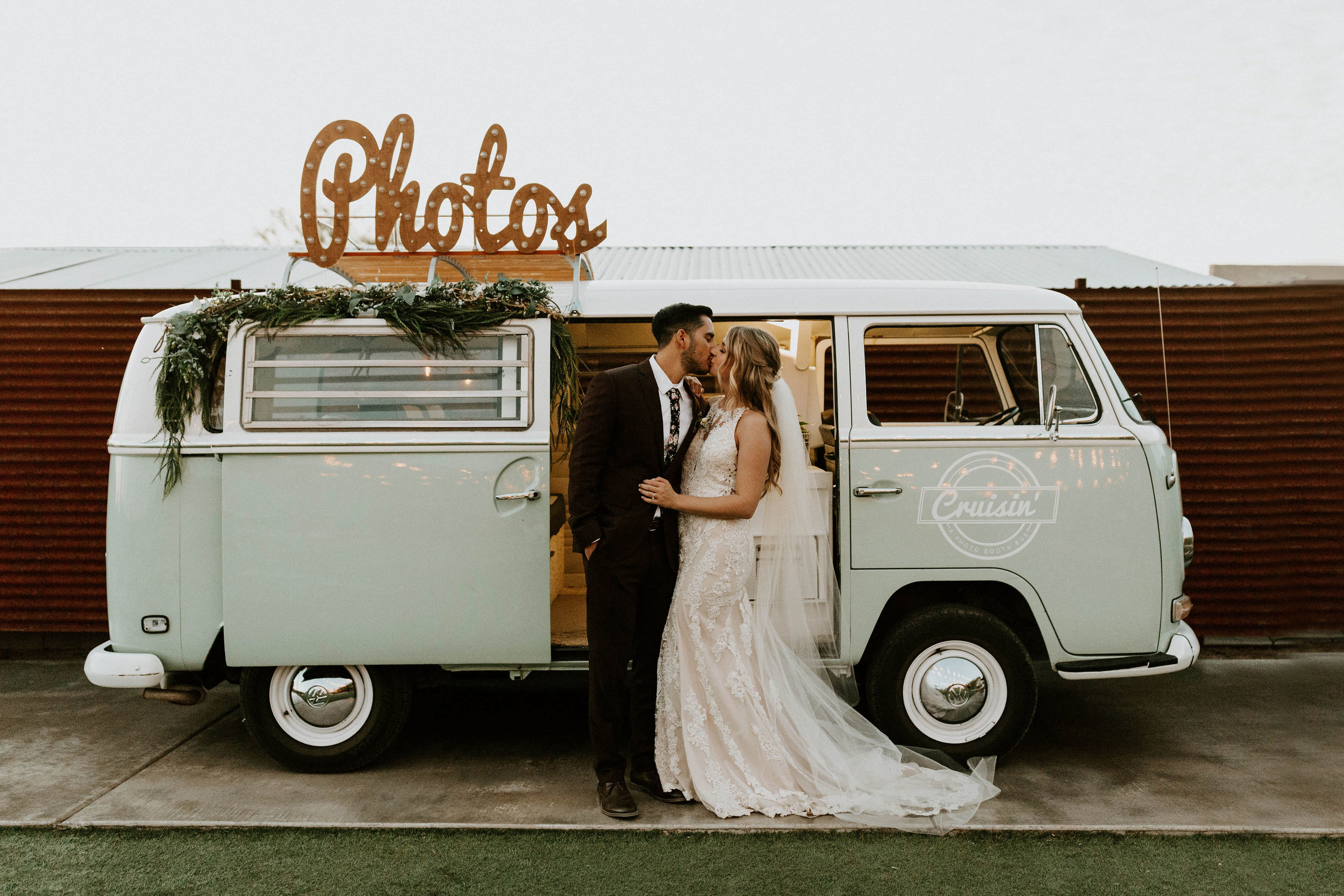 Photo Booth VW Bus at Paseo Wedding Venue