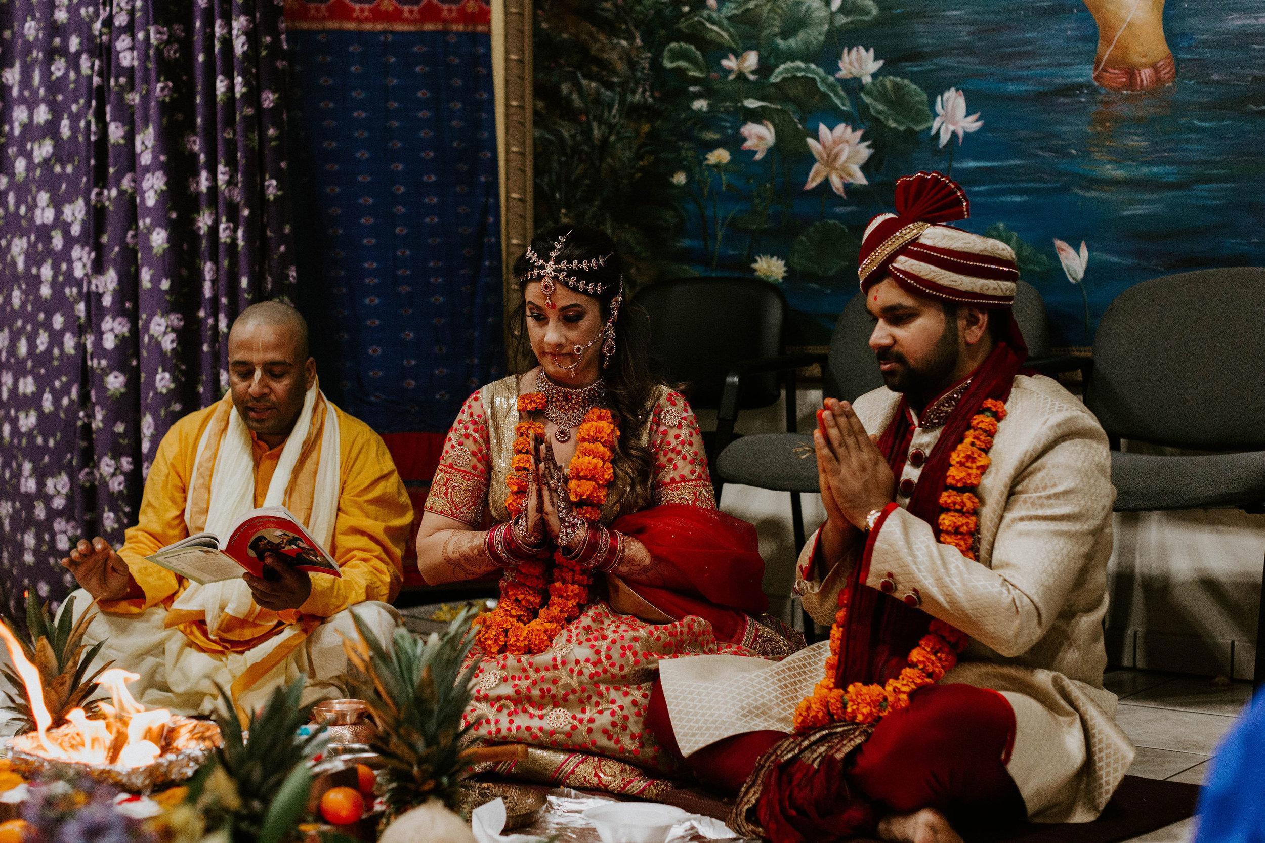Radha-Krishna Lotus Indian Temple Hindu Ceremony Space