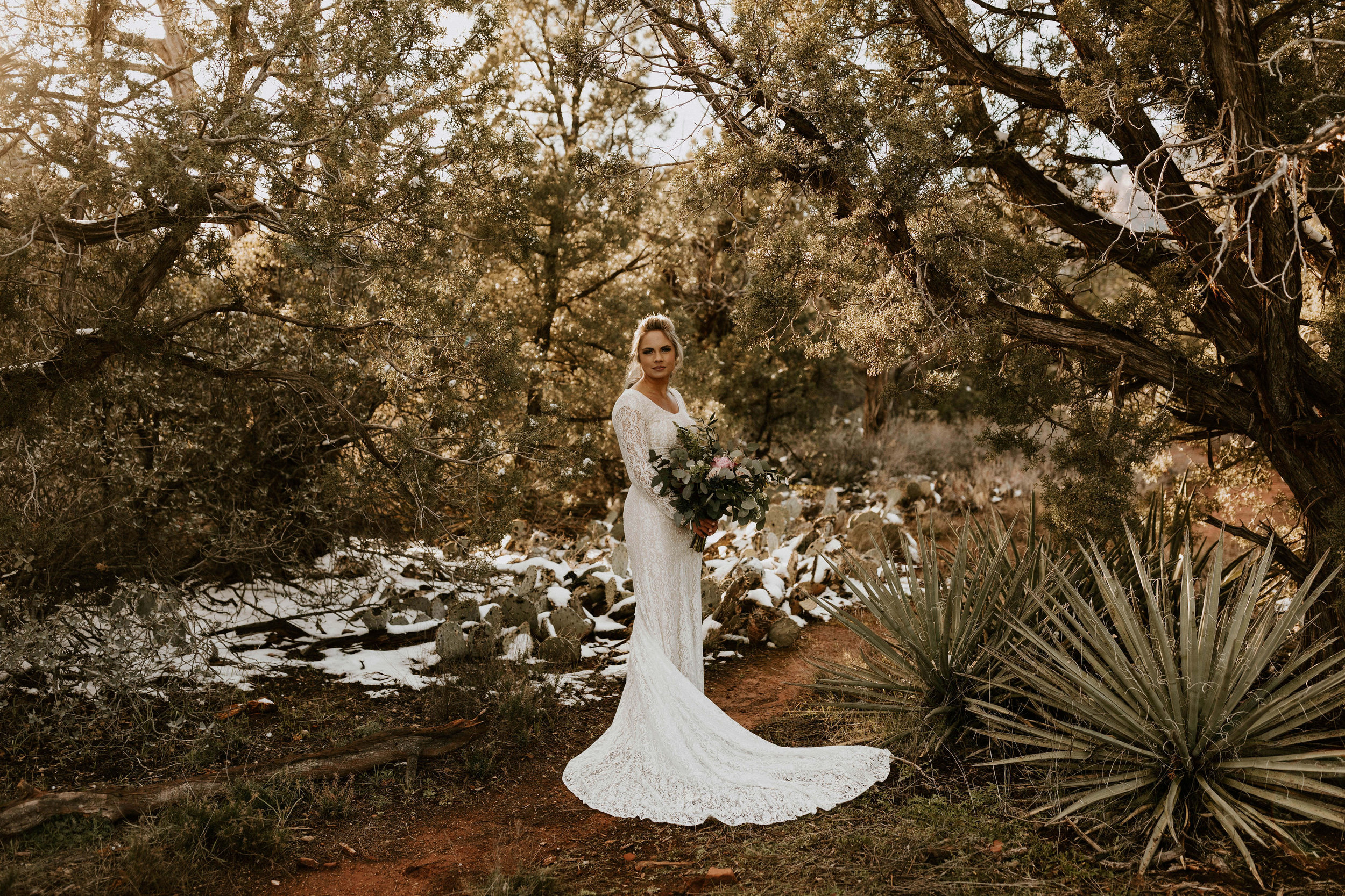 Snowy Sedona Wedding Photos