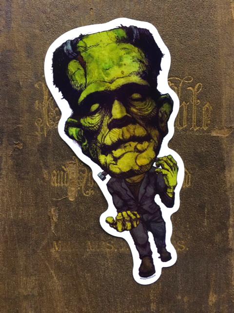 Frankenstein's Creature Vinyl Sticker    $5    Click image to purchase