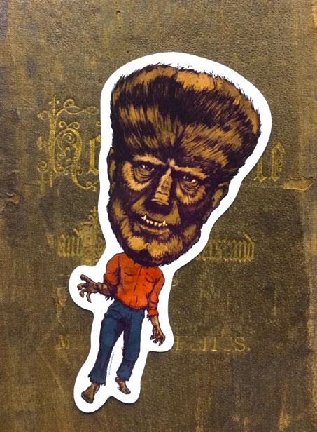The Wolfman Vinyl Sticker    $5    Click image to purchase